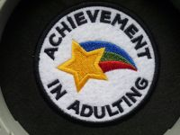 Patch - ACHIEVEMENT IN ADULTING. Embroidered sew-on patch