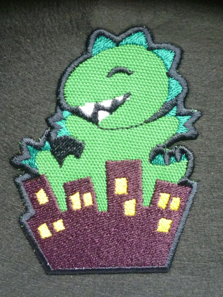 Patch - DINOSAUR. Embroidered sew-on patch