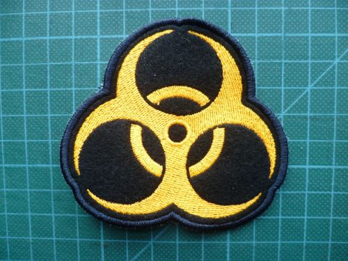 Patch - BIOHAZARD. Embroidered sew-on patch