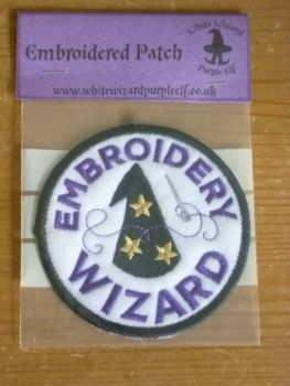 Patch - EMBROIDERY WIZARD. Embroidered sew-on patch