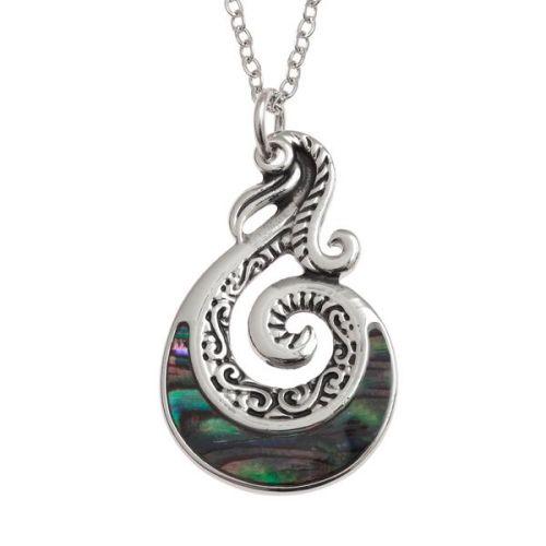 Maori tribal pendant paua shell jewellery by tide jewellery maori tribal pendant aloadofball Choice Image