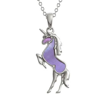Opalescent Purple Unicorn Pendant