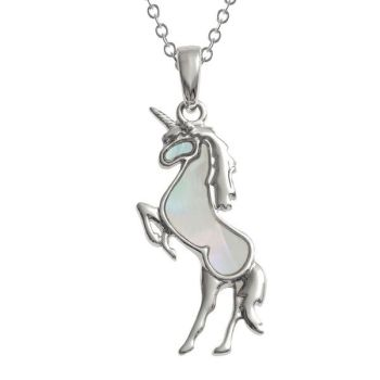 Pearlescent White Unicorn Pendant