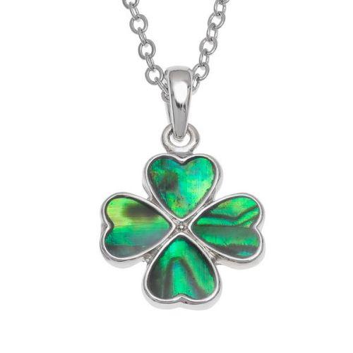 Lucky Shamrock, Four Leaf Clover Pendant