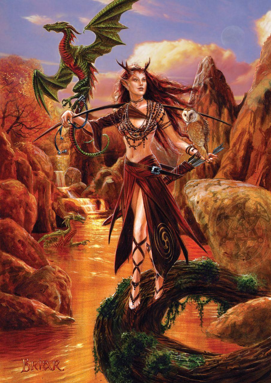 Artemis Greetings Card by Briar