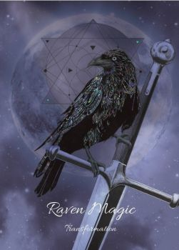 Raven Magic Greetings Card by Karin Roberts
