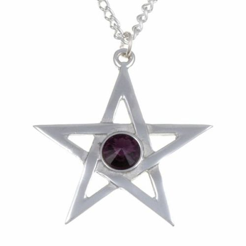 Crystal Pentagram Pendant by St Justin of Penzance