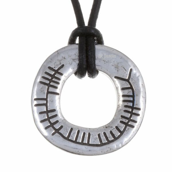 Celtic Blessing pendant, Ogham inscription Blessed Be by St Justin of Penza