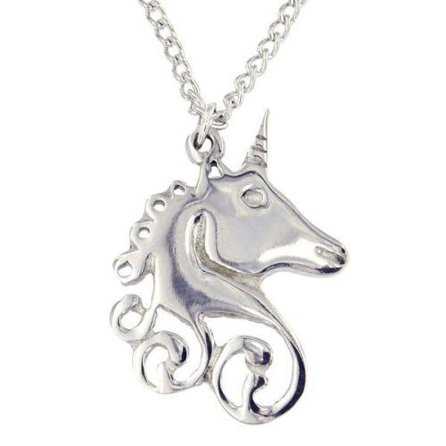 Unicorn Swirl Pendant by St Justin of Penzance