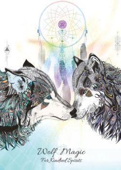 Wolf Magic Greetings Card by Karin Roberts