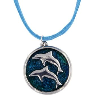 Dolphin Enamel Pendant by St Justin of Penzance
