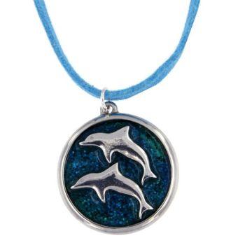 Dolphin Enamel Pendant by St Justin of Penzance