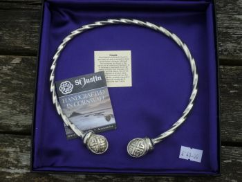 Beautiful Knotwork design Viking Neck Torc *WWPE Exclusive* by St Justin of Penzance