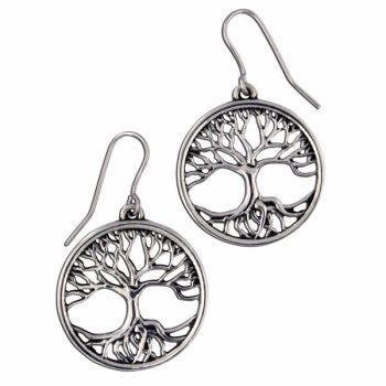 Tree of Life Earrings by St Justin of Penzance