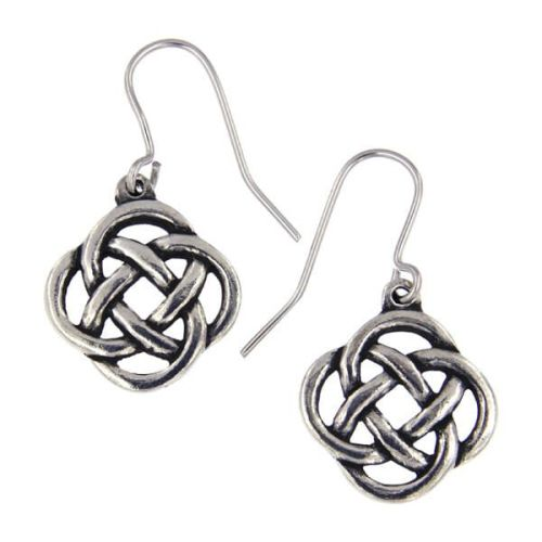 Square Knotwork Earrings by St Justin of Penzance