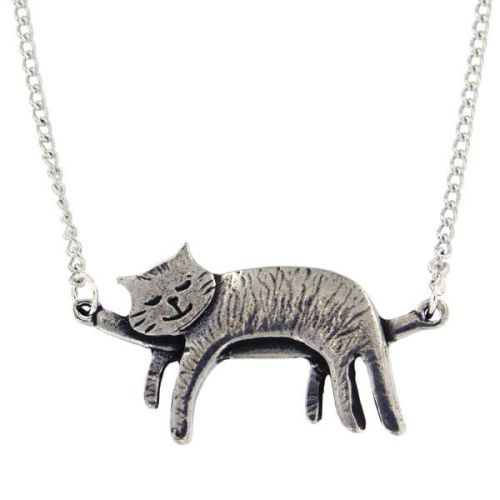 Sleeping Cat Necklace by St Justin of Penzance
