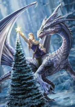 Winter Fantasy Greetings Card by Anne Stokes