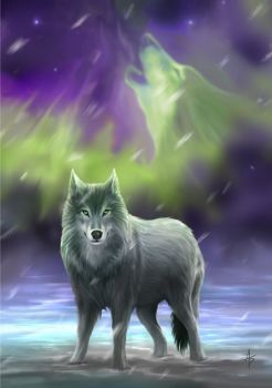 Aura Wolf by Anne Stokes