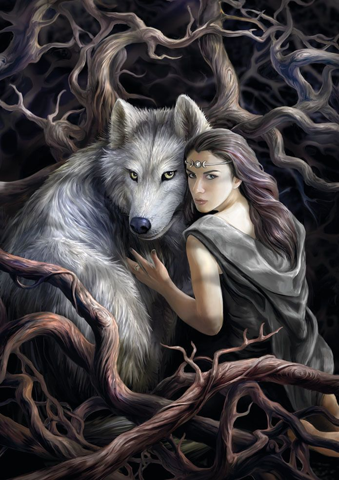 Soul Bond Greetings Card by Anne Stokes