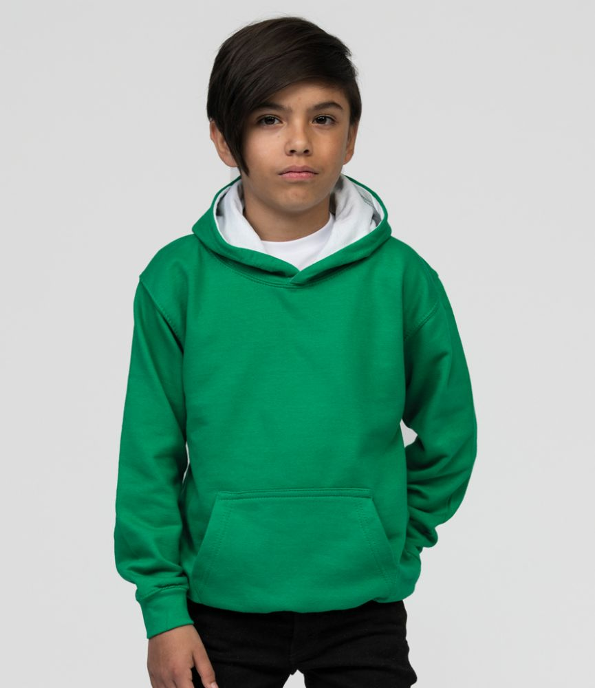 Contrast Kids Hoodies