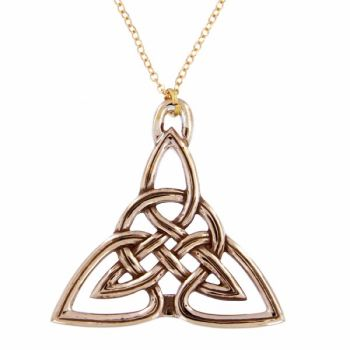 BRONZE Triangular Celtic Knot Pendant
