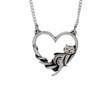 Cat Heart Pendant