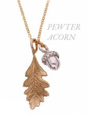 BRONZE Quercus - Oak leaf and Acorn Pendant