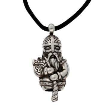 Norseman Thor pendant on Leather Thong by St Justin of Penzance