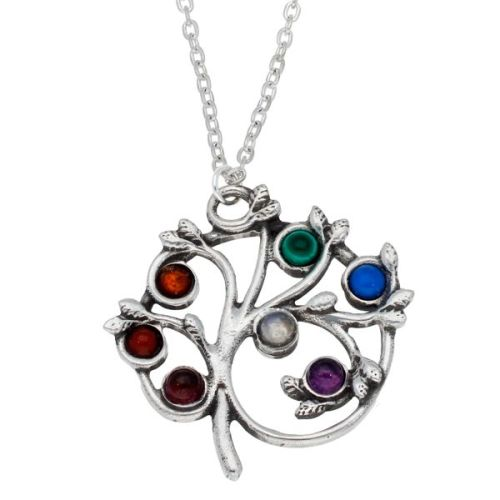 Chakra Tree Pendant by St Justin of Penzance