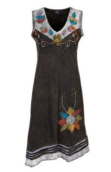 Sleeveless Flower Dress (BLK)