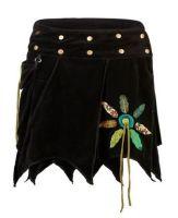 Velvet Pixie Wrap Skirt