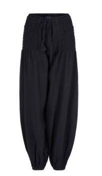 Unisex Wide Leg Long Trousers (BLK)