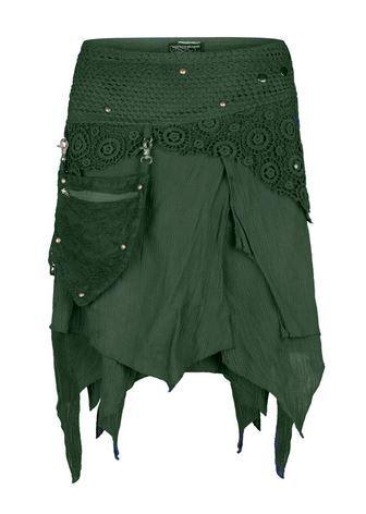 Pixie wrap mini skirt