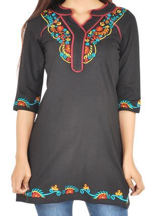 Embroidered Bohemian Tunic