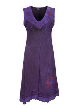 Sleeveless Flower Dress (PUR)