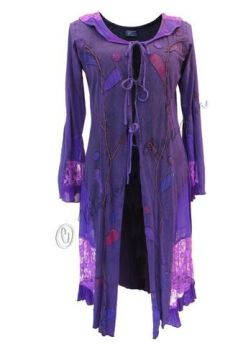 Mid-length Boho Jacket with Lace and Applique (PUR)