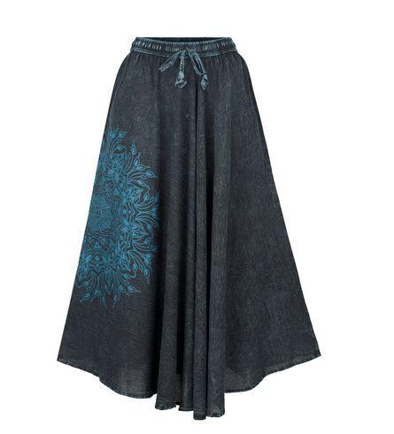 Full A-line mandala skirt (BLU)