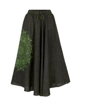 Full A-line mandala skirt (GRN)