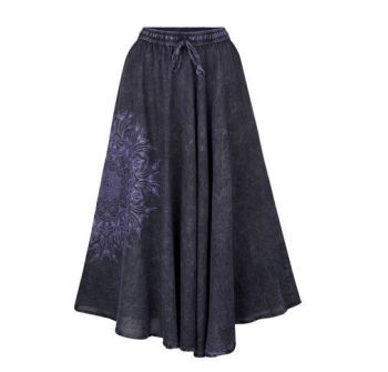 Full A-line mandala skirt (PUR)