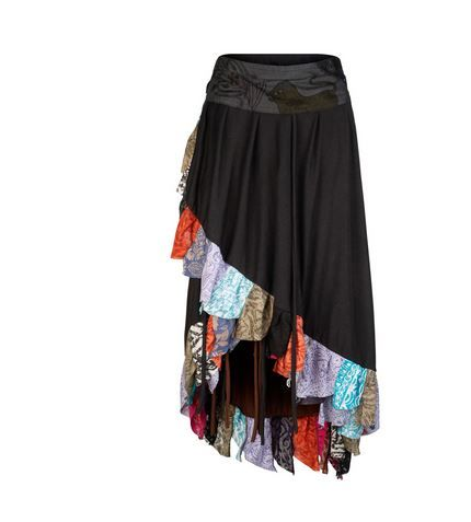Pixie double layer wrap skirt (BLK)