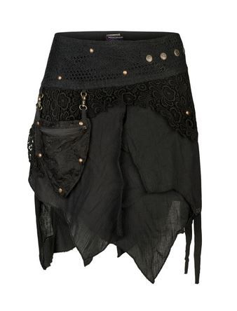 Pixie wrap mini skirt (BLK)