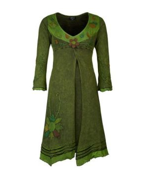 Flower Dress with Long Sleeves (GRN)