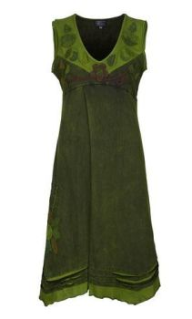 Sleeveless Flower Dress (GRN)
