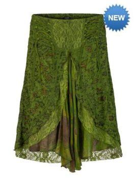 Mid length boho style skirt (GRN)