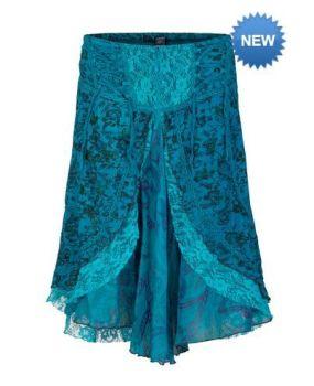 Mid length boho style skirt (TEA)