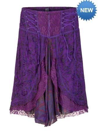 Mid length boho style skirt (PUR)