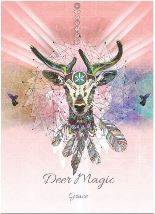 Deer Magic Greetings Card by Karin Roberts
