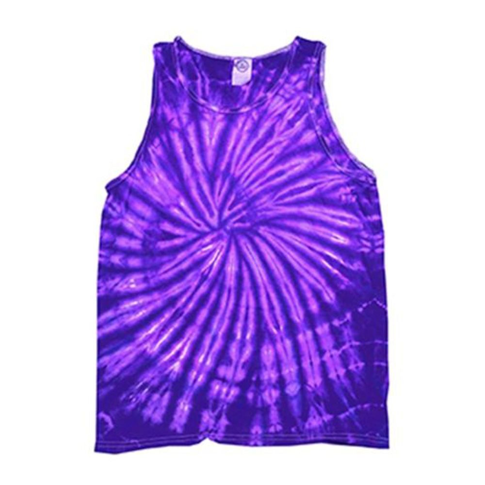 Tie-Dye Tonal Spider Tank Top by Colortone