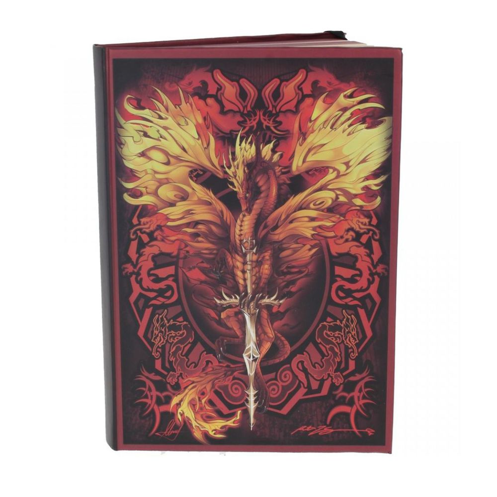 Metallic Embossed Journal Flame Blade 21cm