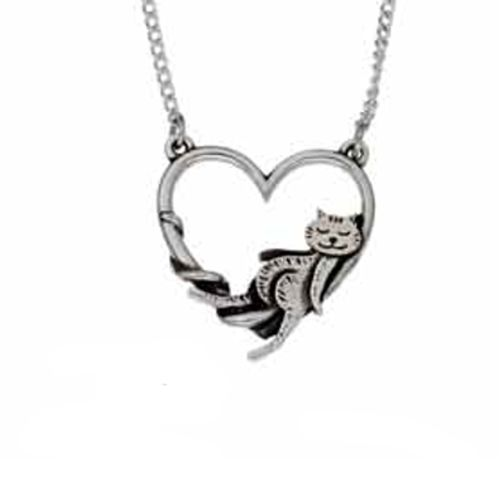 Cat Heart Pendant
